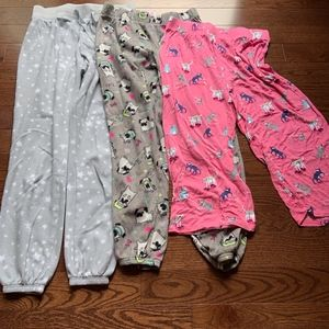 set of comfortable pajama bottoms